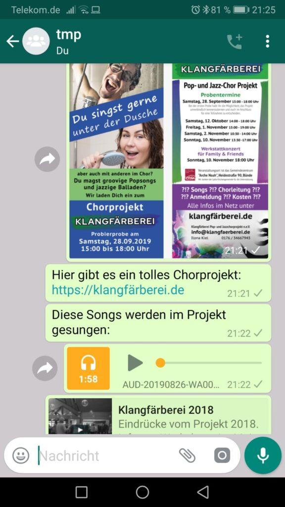 WhatsApp-Werbung