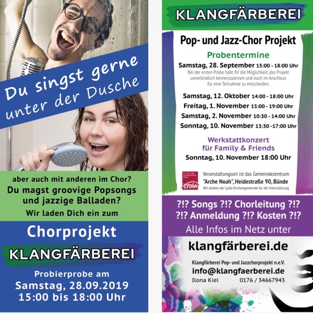 Klangfärberei Flyer 2019